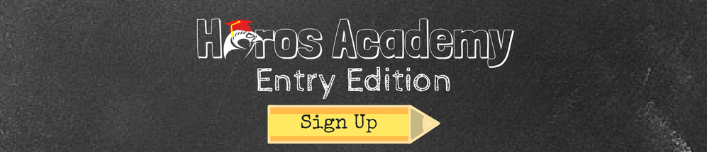 Early enrollment for Horos Academy